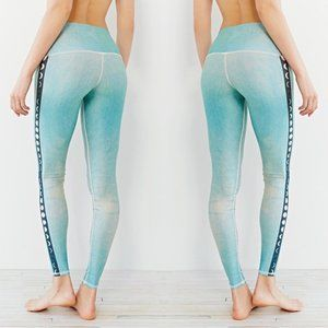 teeki Blue Moon Leggings Pilates Yoga Made USA